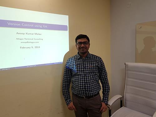 Anoop Malav - Tech Talk on Git at Atlogys